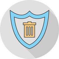 icono de escudo de vectores