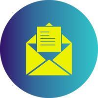 icona di posta elettronica vettoriale