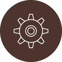 Vektor-Zahnrad-Symbol