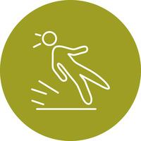 Vector slip pictogram