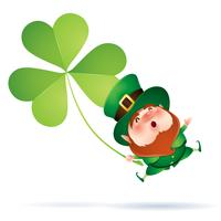 cartoon leprechaun in green top hat