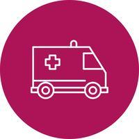 Vector icono de ambulancia