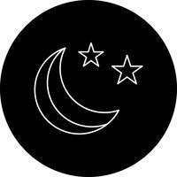 Vector estrellas y el icono de la luna