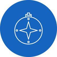 Ícone de bússola vector
