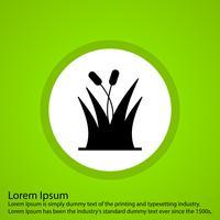 icône d'herbe de vecteur