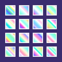 Holographic Gradient Swatches Vector