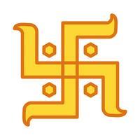 Vektor Hindu Zeichen Symbol