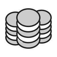 icône de pièces de vecteur
