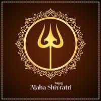 Abstract elegant Mahashivratri background design