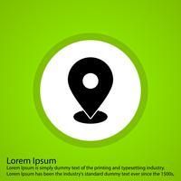 icône de localisation de vecteur