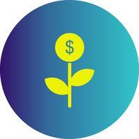 vektor dollar växtikon