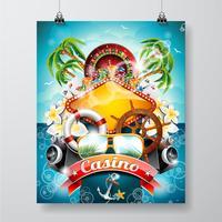 Casino theme illustration