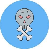 icono de cráneo vector