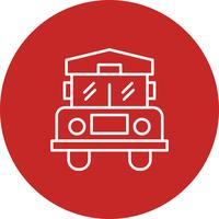 Vector bus pictogram