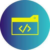 icono de código de optimización de vector