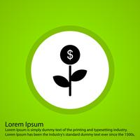 vector dollar plant pictogram