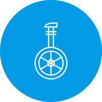 Vector uni cyclus pictogram