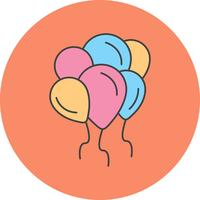 vector ballonnen pictogram
