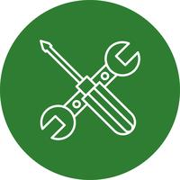 Ícone de reparo de ferramentas de vetor
