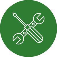 Icona di riparazione di strumenti di vettore