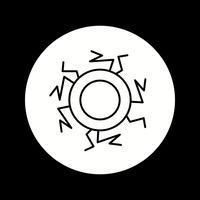 icona del sangue dell'occhio vettore