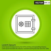 Perfecto ilustración icono, vector o pictograma negro sobre fondo verde.