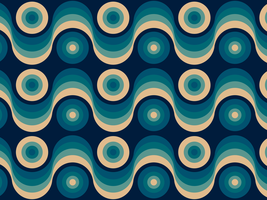Wavy Circles Retro Background