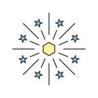 icône de feu de vecteur