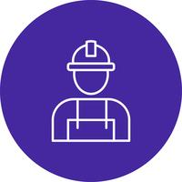 Vector worker icon