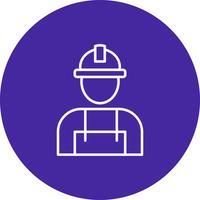 Vetorial, trabalhador, ícone