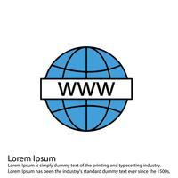 Icona del globo vettoriale