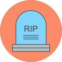 icône de tombe vectorielle
