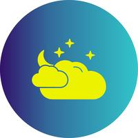vector cloud stars icon