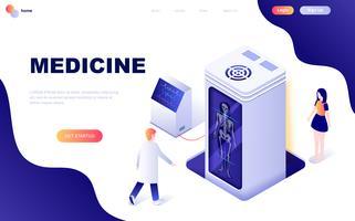 Concetto isometrico moderno design piatto di medicina e sanità