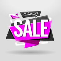 Banner geométrico de venda