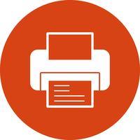 icono de impresora vectorial