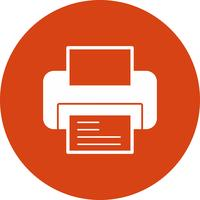 vector printer icon