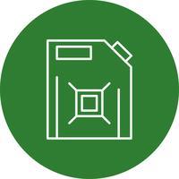 Vector icono de combustible puede