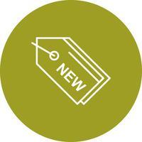 Vector nuevo icono de etiqueta