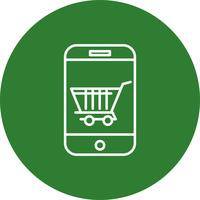 Vector online shopping icon