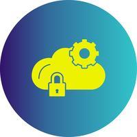 vector wolk instelling pictogram