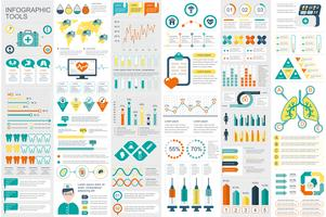 Medicinska infografiska element data visualisering vektor design mall