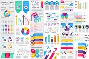 Plantilla de diseño de vector de visualización de datos elementos infográficos