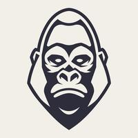 Gorilla Mascot Vector Icon