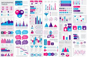 Infographic-Elementdatenvisualisierungsvektor-Designschablone