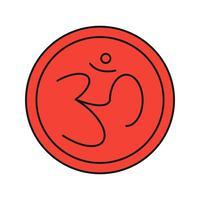 icona indù del segno di vettore