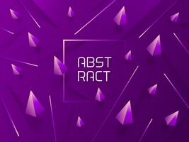 Abstract 3D Purple Gradient Vector Background