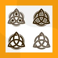 Flat Modern Triquetra Trinity Knot Vector Collection