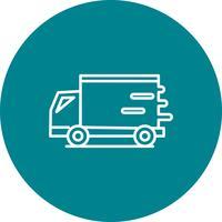 Vector rápido icono de furgoneta