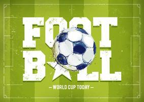 Grunge Fußball Poster